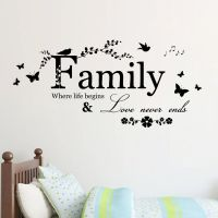Family Beautiful Tree Love Never ends Art Vinyl Wall ...