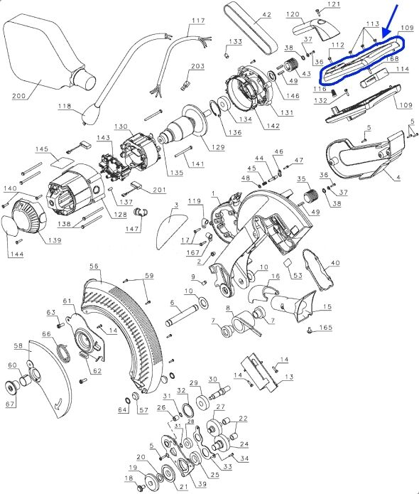 Dewalt Dw708 Parts List And Diagram Dewalt Dw290 Parts
