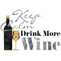 Quote: KEEP CALM DRINK MORE WINE wall stickers 7 decals ...