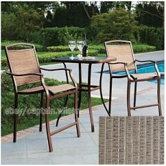Antique High Back Wicker Chairs Fuf Chair Cover Bistro Table Bar Set 3-pieces Outdoor Patio Furniture Deck | Ebay