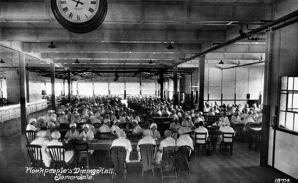 Photo ca 1934 Somerdale Frys Employee Dining Room  eBay