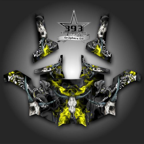 small resolution of details about polaris rzr 800 utv graphics decal wrap 2011 2014 skull rider yellow
