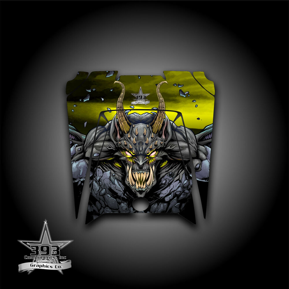 hight resolution of details about polaris rzr xp 900 800 570 utv graphics hood decal 2011 2014 guardian yellow