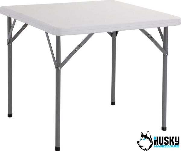 Husky 3ft Square Folding Plastic Table Banquet Trestle Bbq Diy Camping Catering