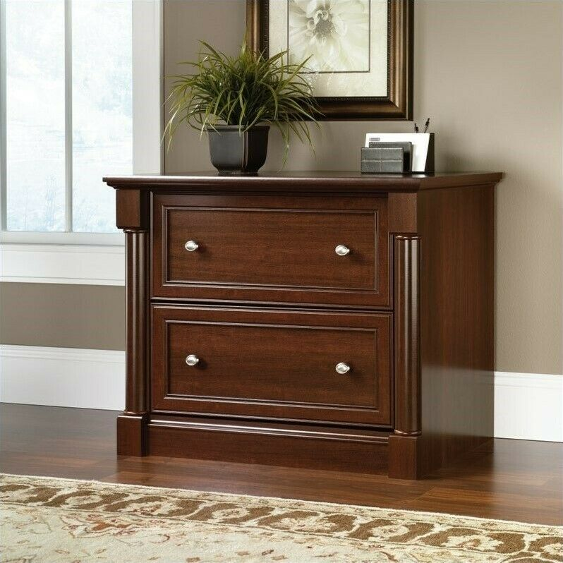 Filing Cabinet File Storage Lateral Wood 2 Drawer Letter