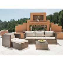 Supernova 6pc Outdoor Rattan Wicker Sofa Sectional Patio