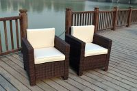 NEW SINGLE CHAIRS RATTAN WICKER CONSERVATORY OUTDOOR ...