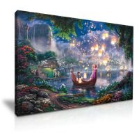 Disney Tangled Kids Canvas Wall Art Picture Print 76x50cm ...