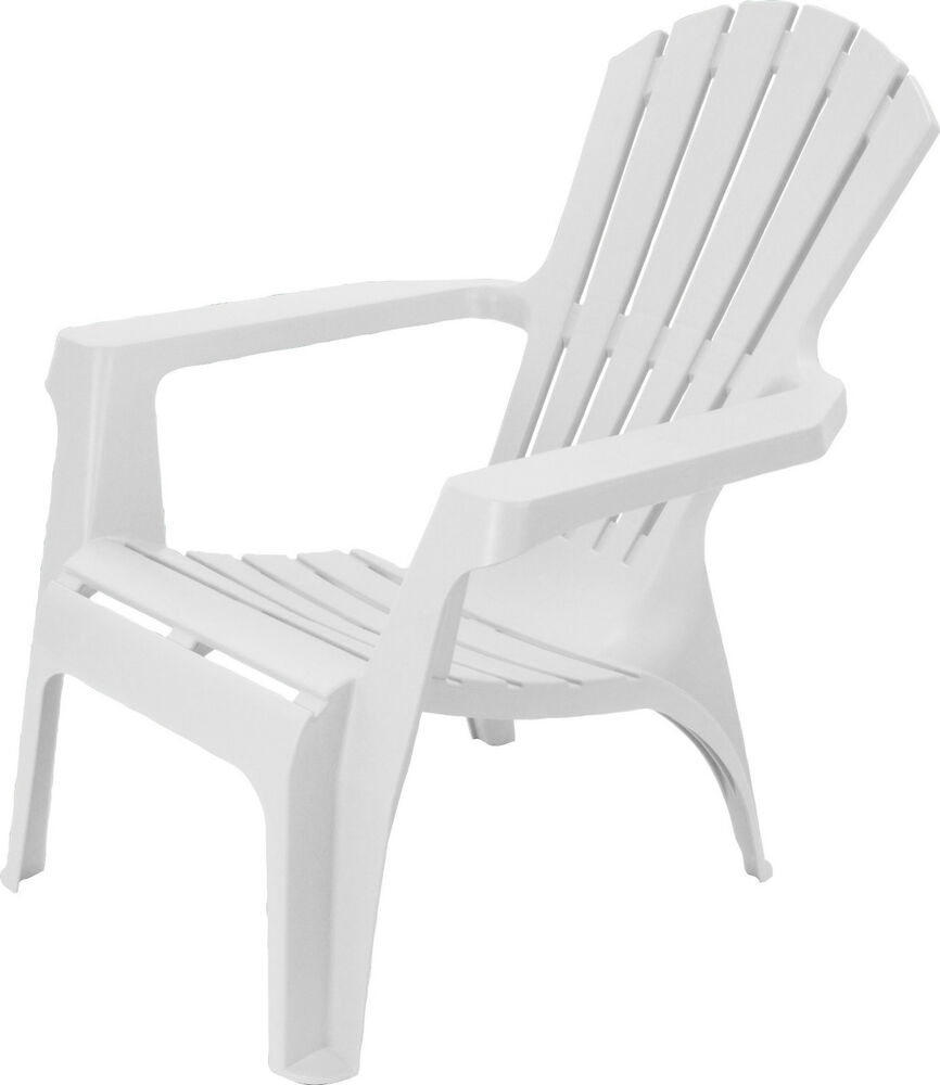 plastic patio chairs bubble chair stand only adirondack style garden lounger with table | ebay