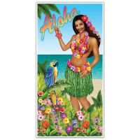 5ft Tropical Hawaiian ALOHA Luau Hula Girl Door Cover