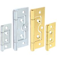 2 x Flush Door Hinges ZINC or BRASS 40,50,60,75mm Small