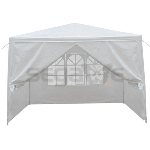 10' X Outdoor Canopy Party Wedding Tent White Gazebo Pavilion With4 Side Walls