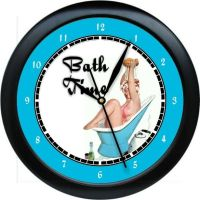 Personalized Bath Time Wall Clock Fun Bathroom Decor Gift ...