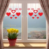 Valentines Love Hearts Shop Window Wall Sticker V2 Decal ...