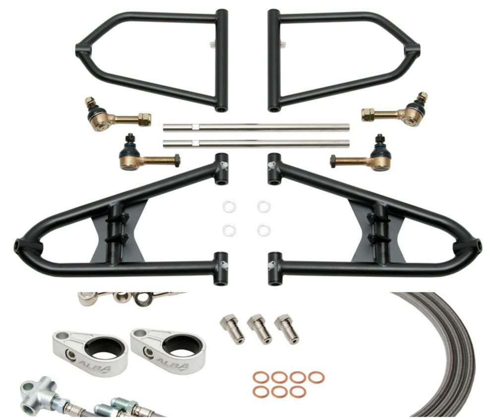 Banshee 350 A Arms +2 +1 Chromoly Adjustable Brake Lines