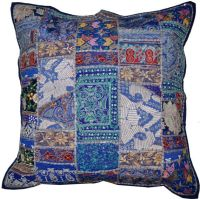 24x24 vintage decorative throw pillows, Blue couch pillows ...
