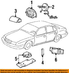 2000 lincoln ls v8 engine diagram lincoln parts lincoln ford oem airbag air bag clockspring clock spring [ 916 x 1000 Pixel ]