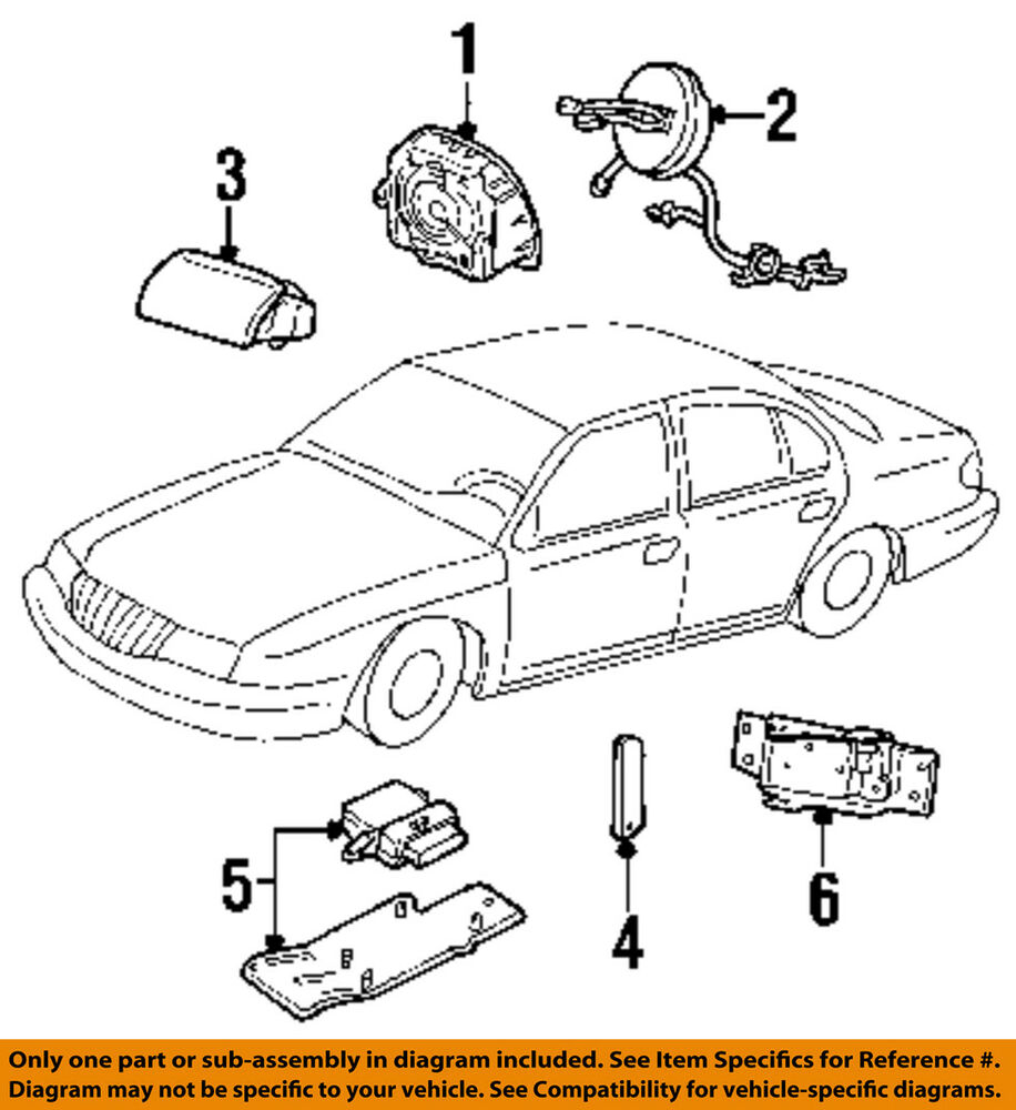 hight resolution of 2000 lincoln ls v8 engine diagram lincoln parts lincoln ford oem airbag air bag clockspring clock spring