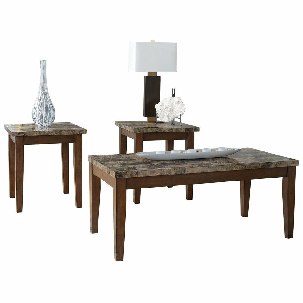 Ashley Furniture Occasional Table Set 3CN Theo Warm