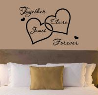 Personalised Love Hearts Wall Sticker - Romantic Bedroom ...