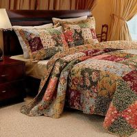 French Country Patchwork Quilt Bedspread Set Oversized 120 ...