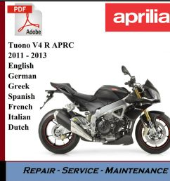 aprilia tuono v4 r aprc 2011 2013 workshop service repair manual ebay [ 1000 x 920 Pixel ]