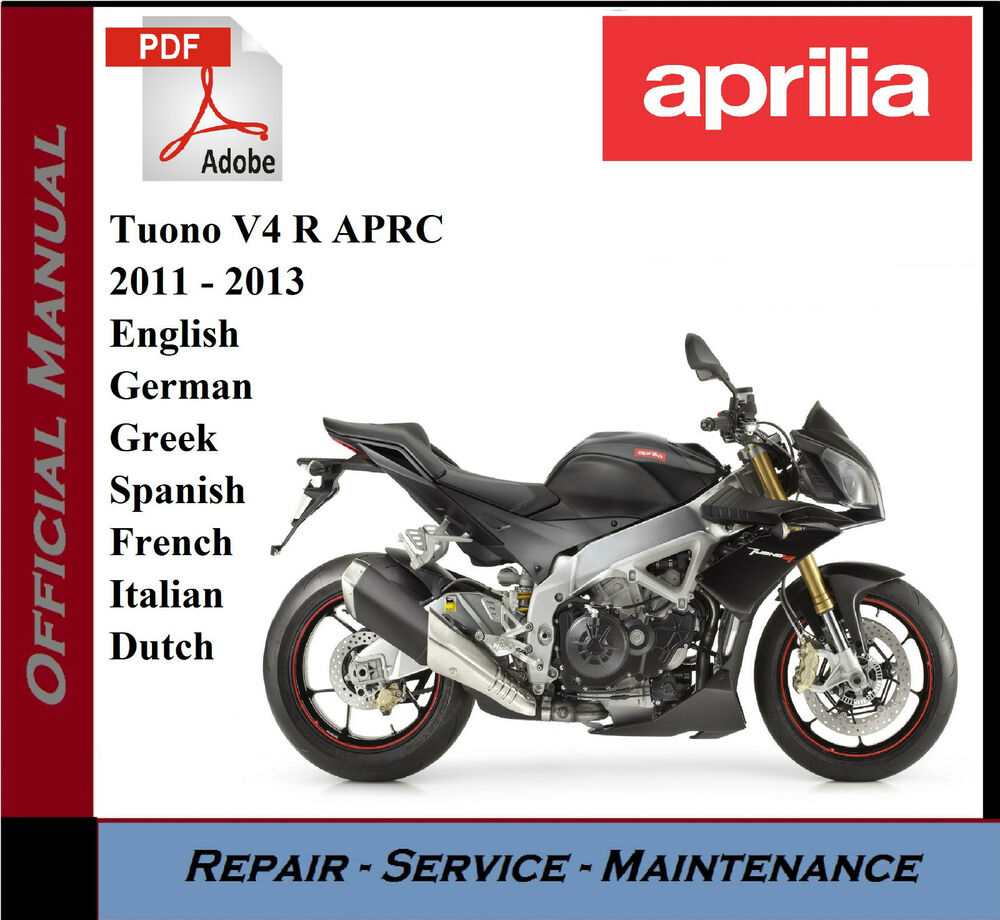 hight resolution of aprilia tuono v4 r aprc 2011 2013 workshop service repair manual ebay