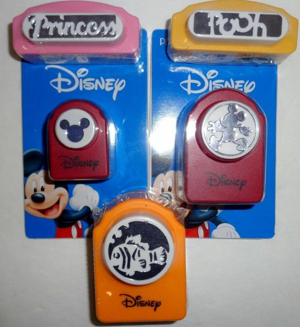 5 Disney Paper Punch Punches Mickey Mouse Winnie Pooh