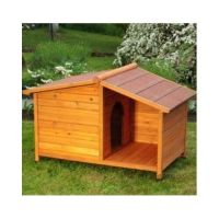 Wooden Dog Kennel Winter Warm House Weather Proof Shelter ...