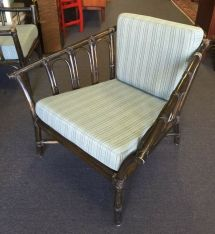 Mcguire Furniture Arm Chair Rattan Bamboo Vintage