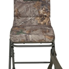 Swivel Camp Chair Dining Chairs Under 100 00 Banded Blind Padded Seat Hunting Stool Realtree Xtra Camo Reg New! | Ebay