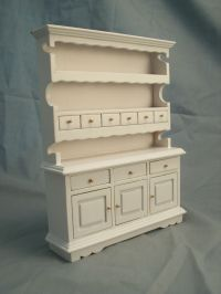 Kitchen Hutch White T5114 miniature dollhouse furniture ...