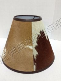 Pottery Barn Rustic Cabin Country Basic Cowhide Lamp Light ...
