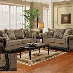 Ashley Bonded Leather Sectional Sofa Bed In A Box Uk Dream Java Chenille & Love Seat Living Room Furniture ...