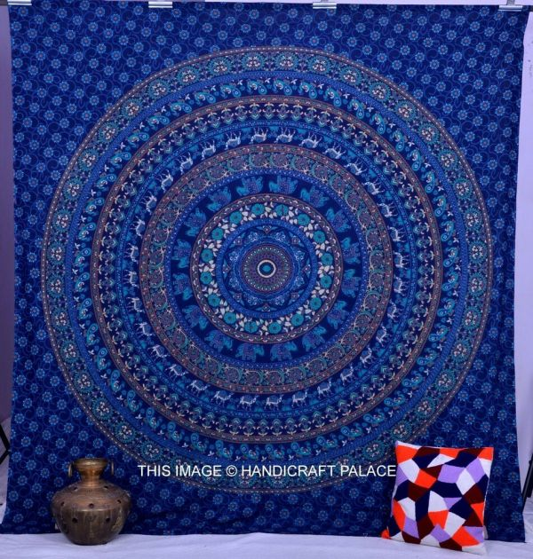 Hippie Mandala Indian Tapestry Wall Hanging