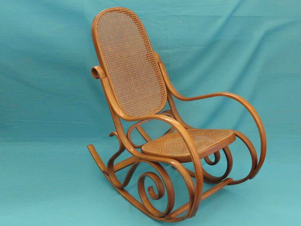 VINTAGE THONET STYLE CANE BENTWOOD ROCKING CHAIR  MADE IN