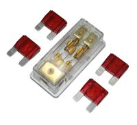 APS FREE 4PCS 50A FUSE MAXI Fuse holder 3 X 4GA IN 2X 8GA ...
