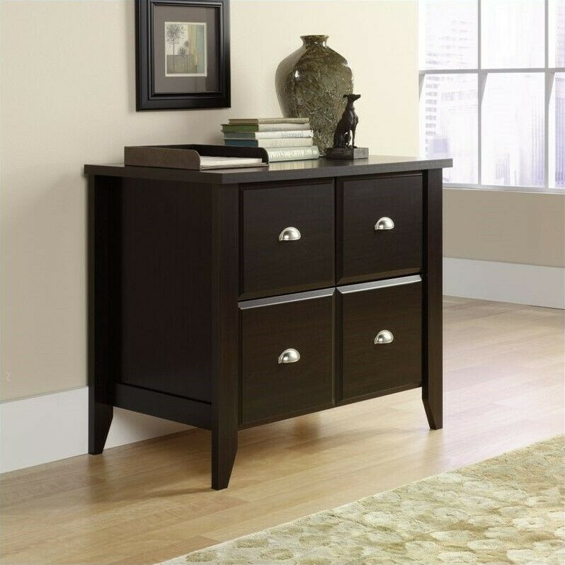 Filing Cabinet Office File Storage Lateral in Jamocha Wood