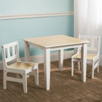 NEW DELTA CHILDREN NATURAL KIDS WOODEN TABLE & CHAIRS SET ...