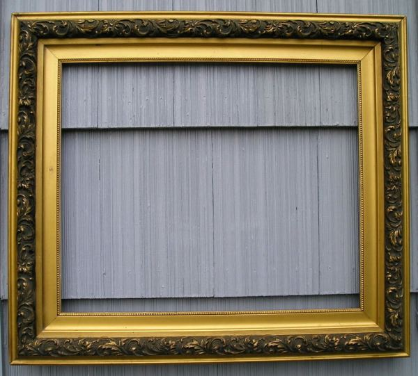 Antique Aesthetic Eastlake Victorian Gold Gilt Ornate Frame 20 X 24