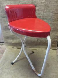 Vintage Metal Heart Shaped Chair Antique Old Stool RARE ...
