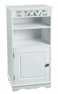 BATHROOM WOODEN STORAGE CABINET-White (FLOOR STANDING ...