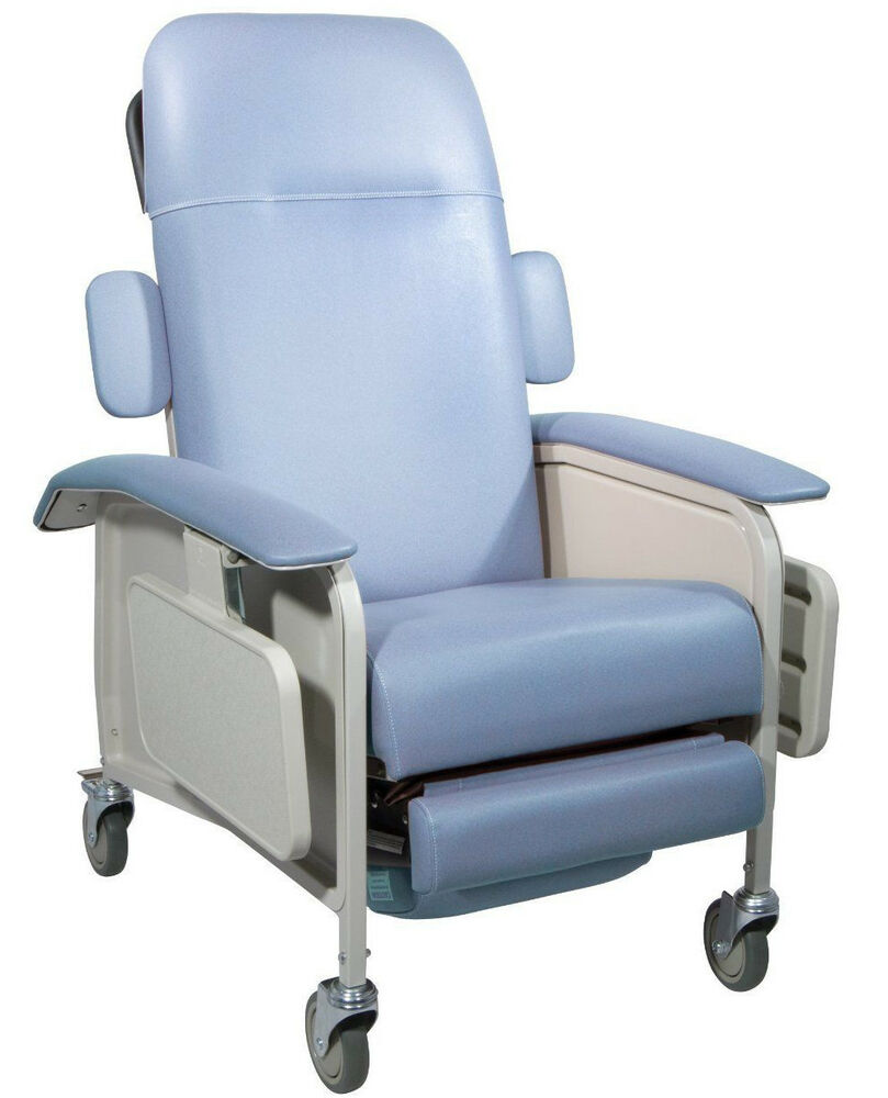 Drive Medical Clinical Care Geri Chair Recliner Blue