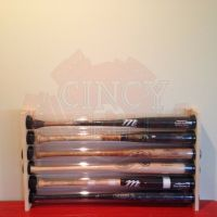6 BASEBALL BAT DISPLAY HOLDER RACK - WALL MOUNT - HOLDS 6 ...