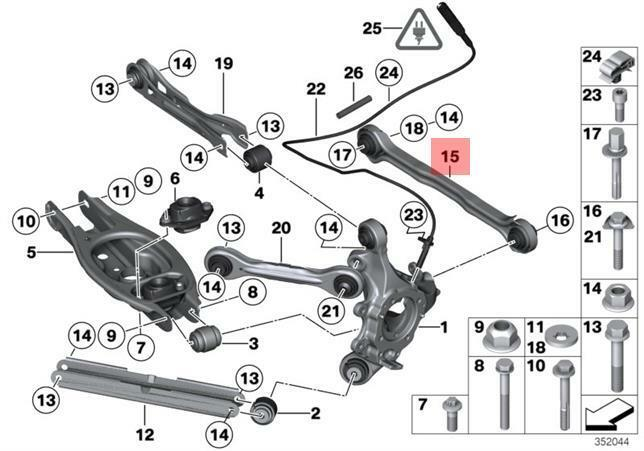 Genuine BMW E81 E82 E84 E87 Track Control Arm Repair Kit