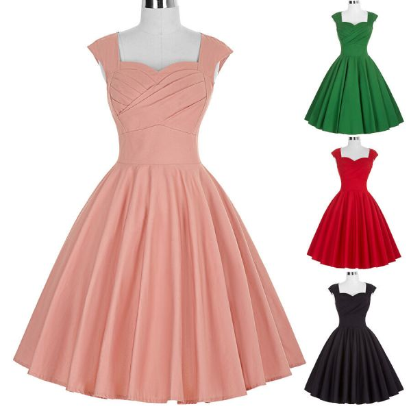 50s 60s Vintage Style Swing Pinup Retro Housewife Evening