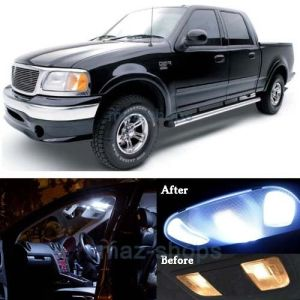 16x Pure White Interior LED Lights Package Kit for 1997