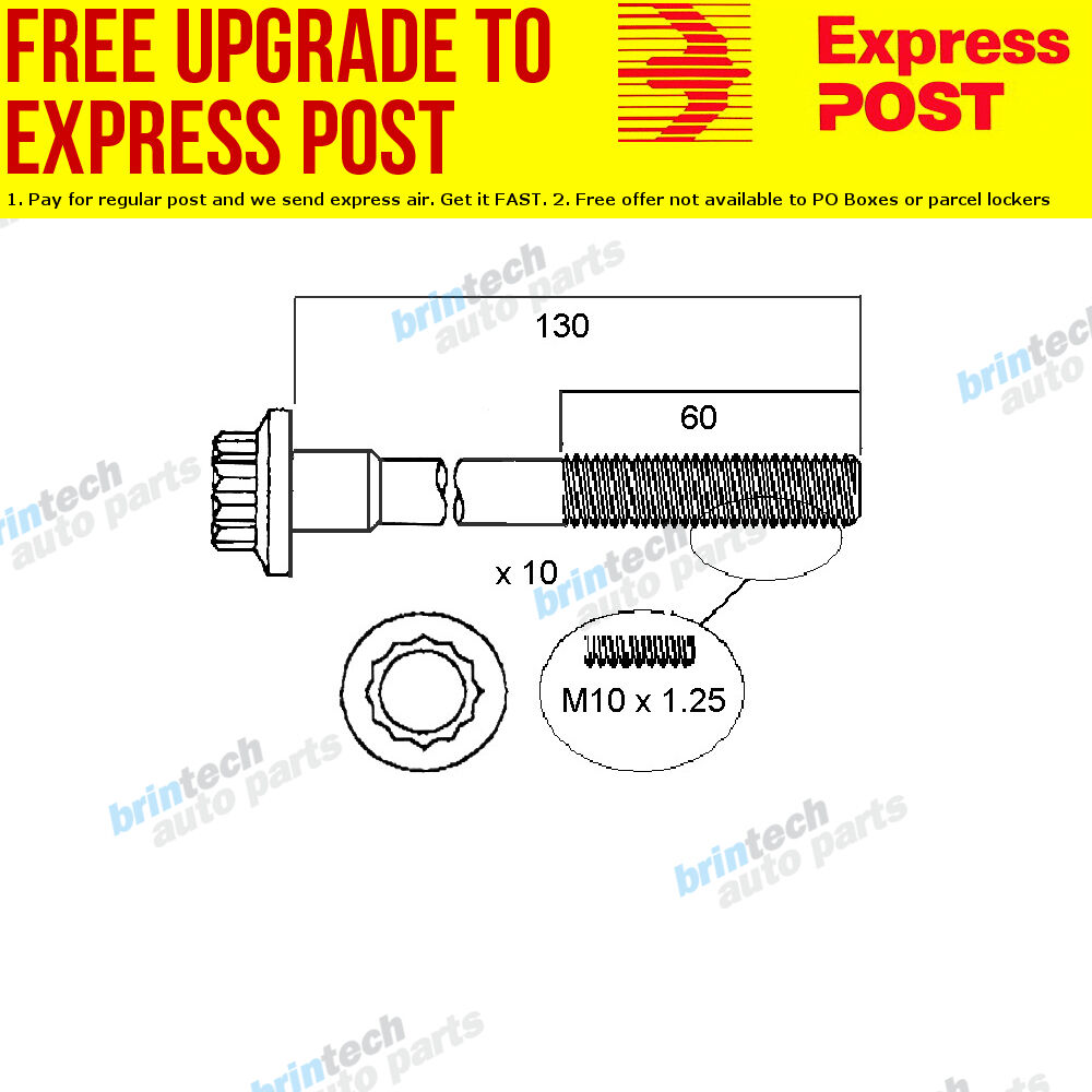 hight resolution of details about 2002 2007 for mazda mazda 2 dy10 zy vvt head bolt set