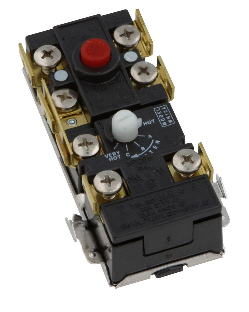 medium resolution of upper electric hot water heater thermostat 2 element