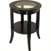 End Table Living Room Furniture Espresso Wood Dark Brown